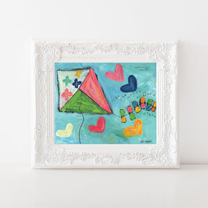 Kite painting art print