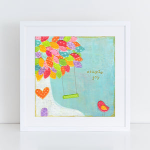 Simple Joy Whimsical Tree art print