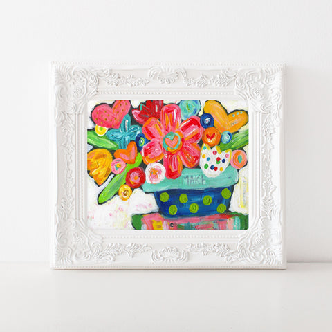 Bright colorful Flower art print