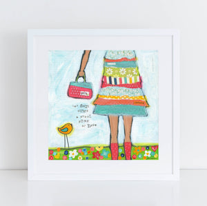 Hope Brave Girl Art Print