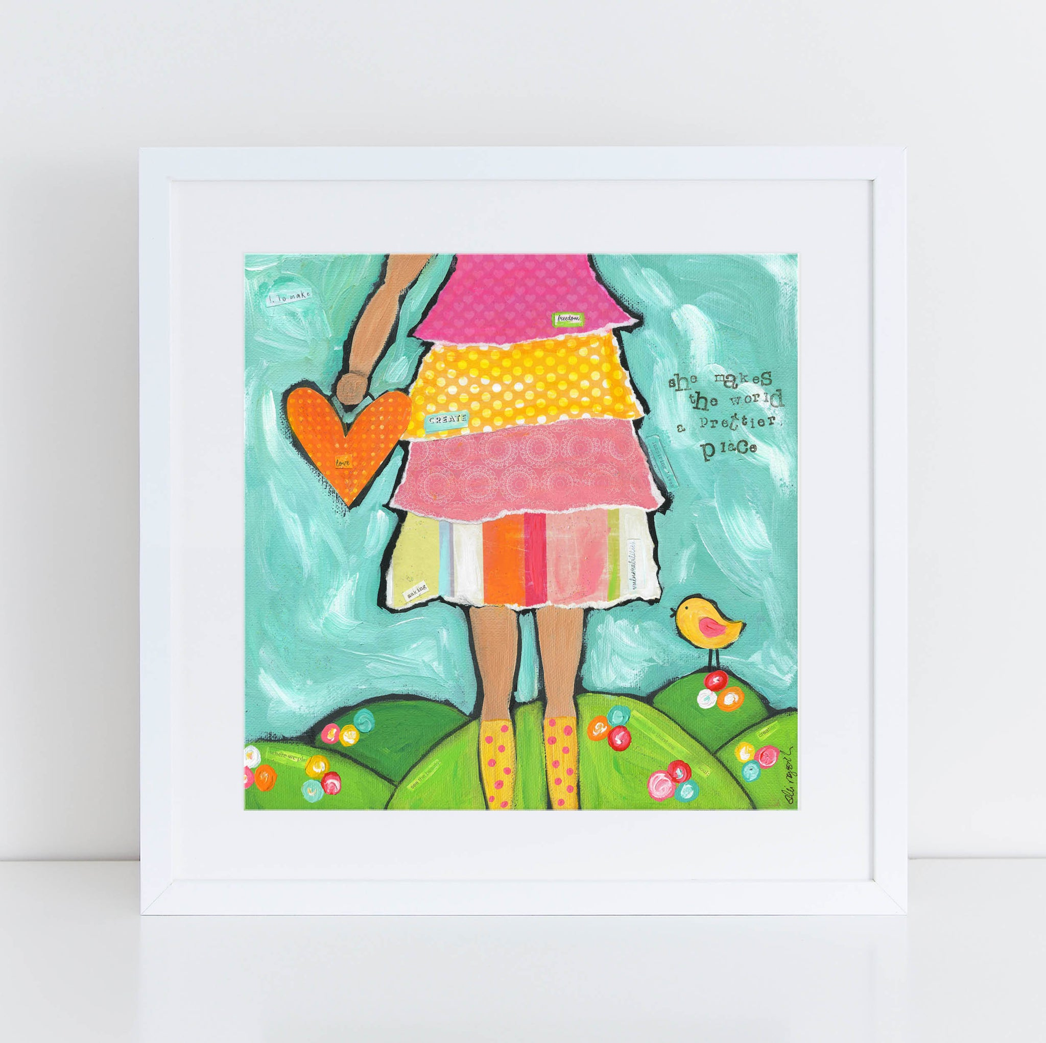 Brave Girls Art Print, Maker, Artist, Creative Girl, Self Esteem, confidence, girls room decor, colorful whimsical Christian Wall decor