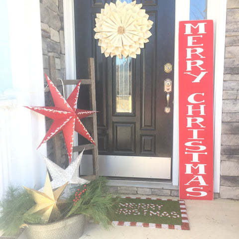 Large Merry Christmas Porch Sign, Noel sign, Large Welcome sign, Front Porch Decor, Outdoor Sign, 5 ft tall extra large custom sign