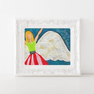 Glory to God in the highest Christmas Angel Art print