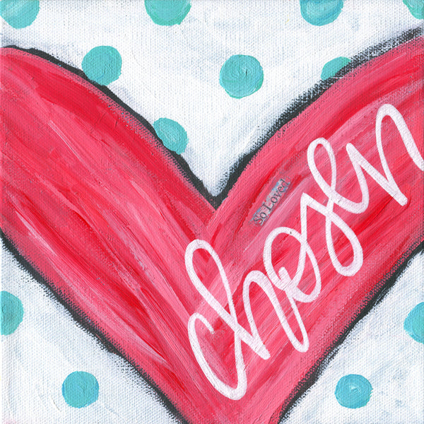 Heart Art Print, Valentines day decor, Mounted art prints, Art blocks, heart paintings, shelf sitter, valentines day gift, Christian art