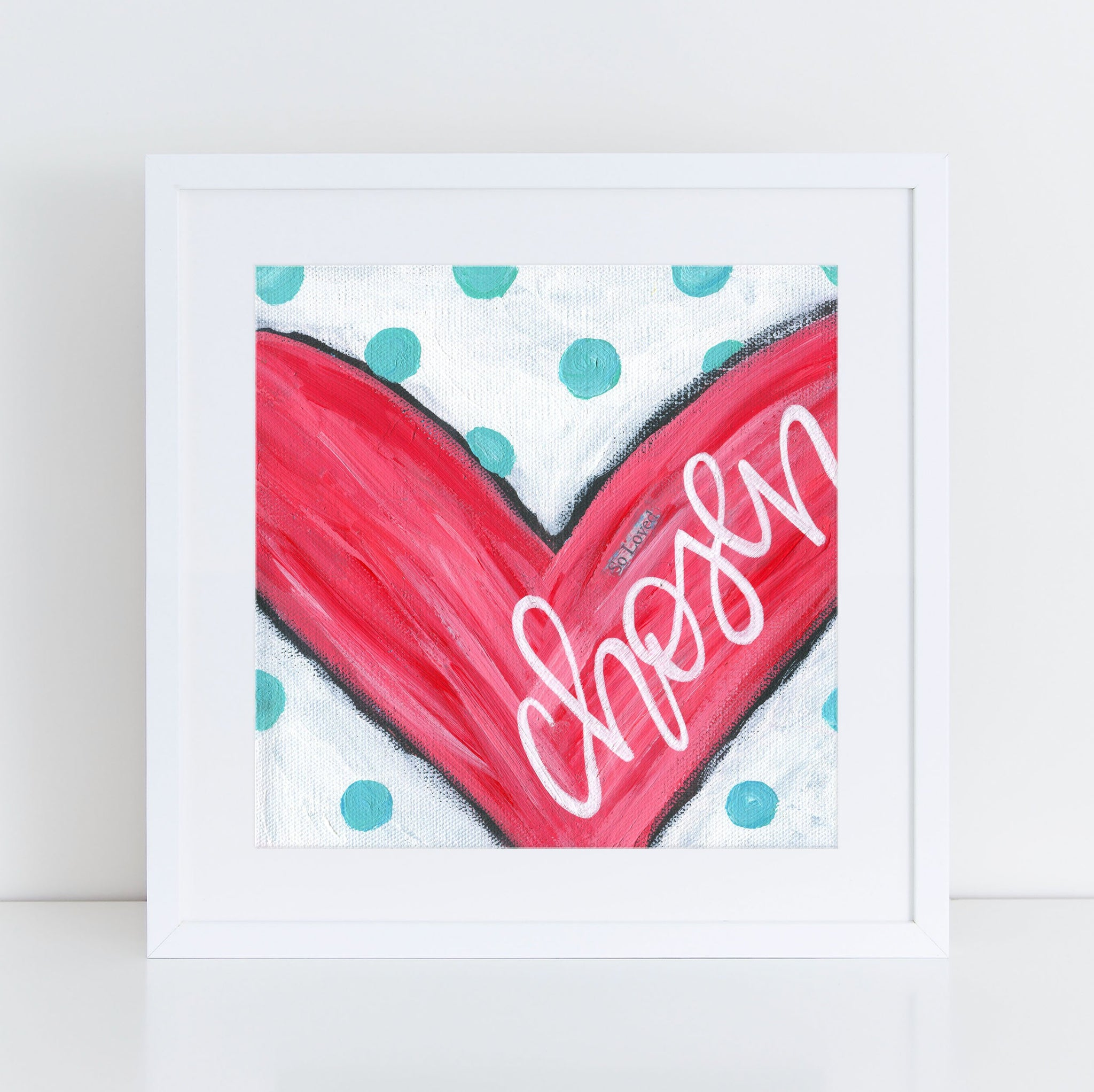 Chosen heart art print