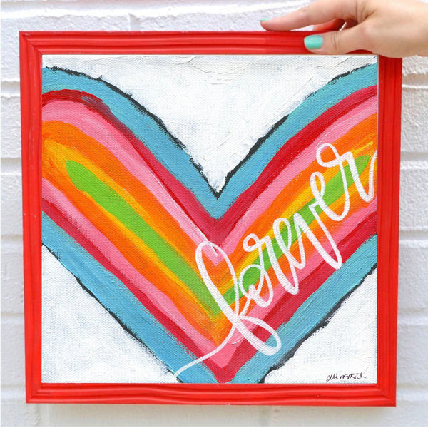 Forever Rainbow Heart Art Print