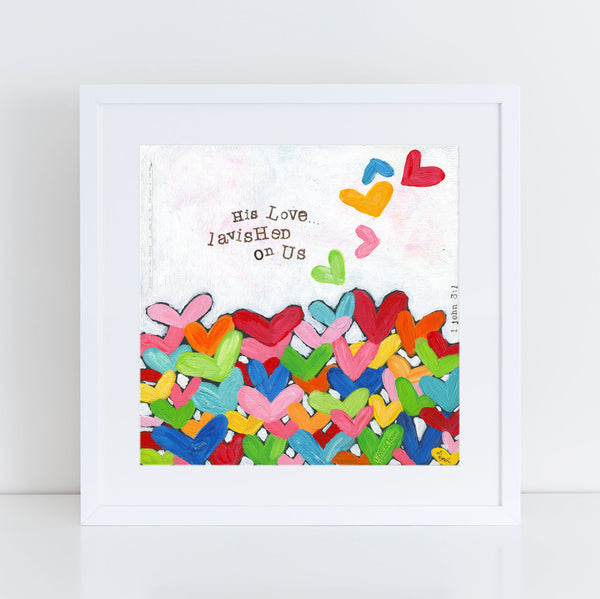 Colorful Heart Art Christian Art Print