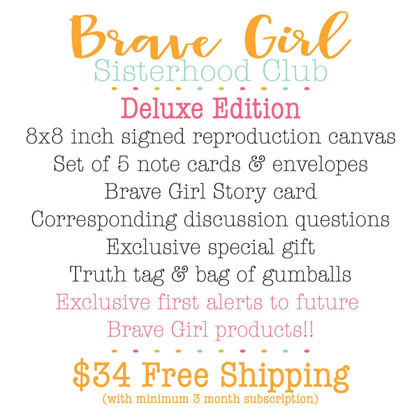 Brave Girl Sisterhood Club (Darker Skin Tone): April Joy Edition. Bible Study Subscription Service for Girls.