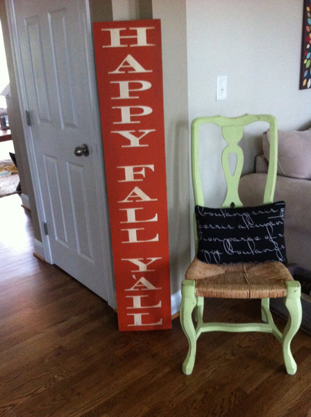 Large Outdoor Happy Fall Y'all Sign, Welcome Sign, Weatherproof Porch Sign, Entryway Fall Porch Decor, Oversized Rustic Farmhouse decor