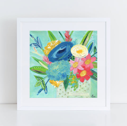 Joy in the Waiting Floral Art print