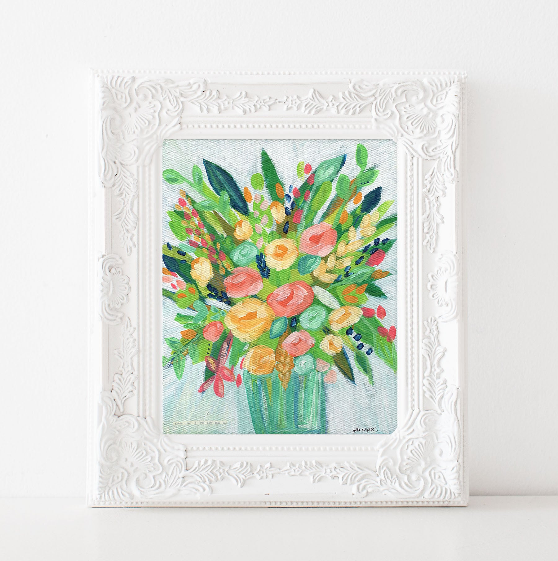 Art print: Bright and Colorful Bouquet
