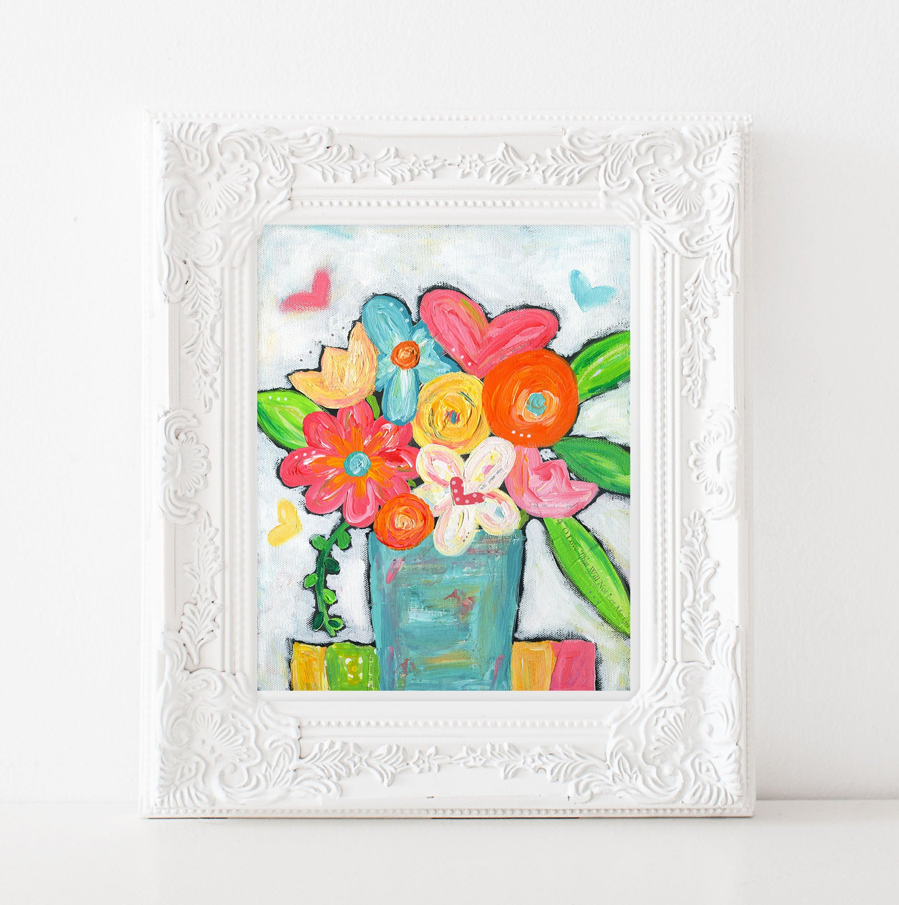 Happy Flower bouquet art print