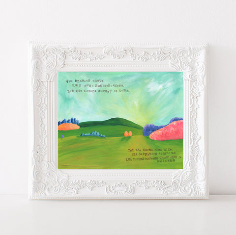 Art print: Let Righteousness Rain Landscape Painting