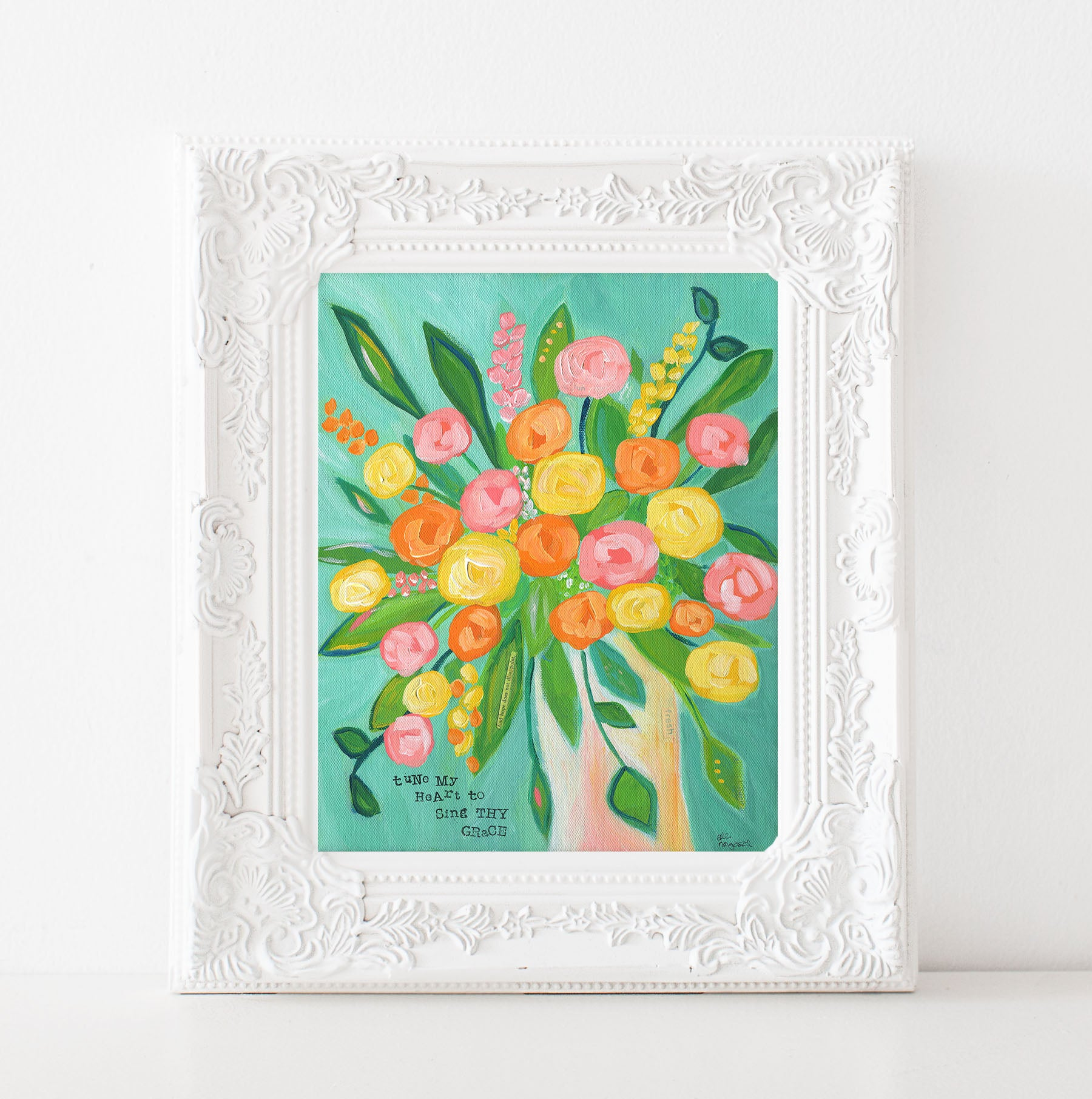 Art print: Tune My Heart Floral Painting