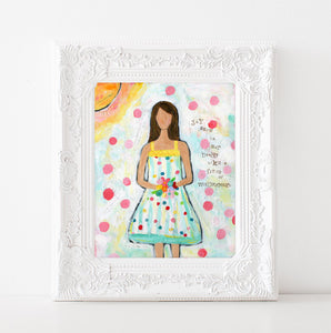 Wildflowers Girls Art Print