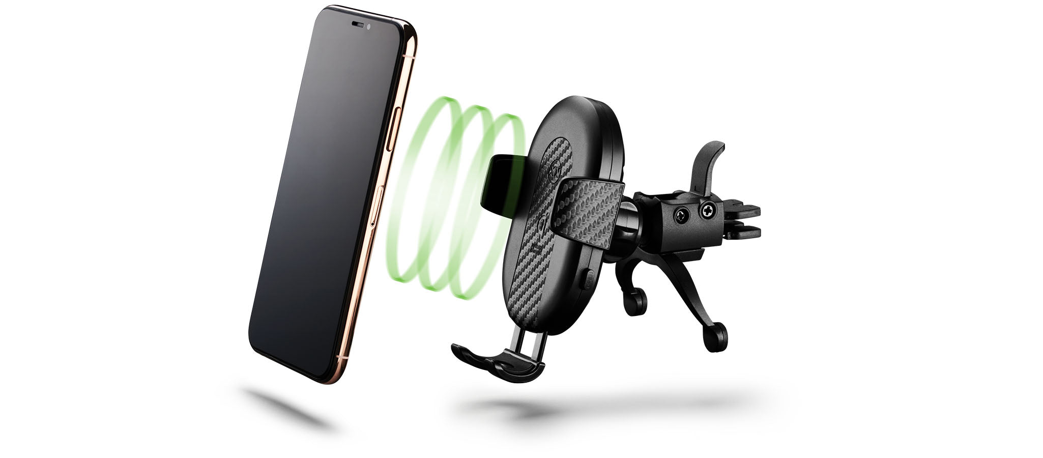 DashCharge wireless car mount for iPhone XS