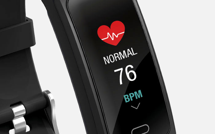 F1 fitness tracker with heart monitor