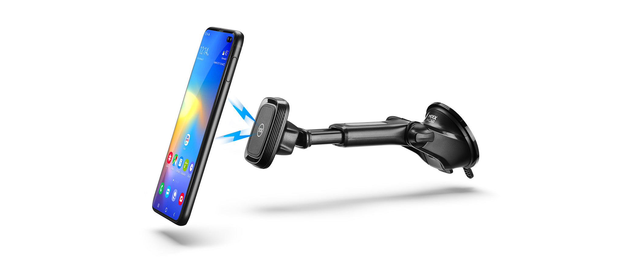 Magnetic long arm car mount for Samsung S10