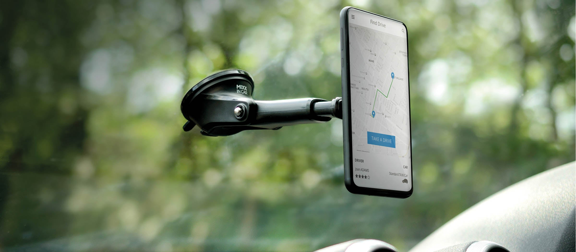 Magnetic long arm car mount