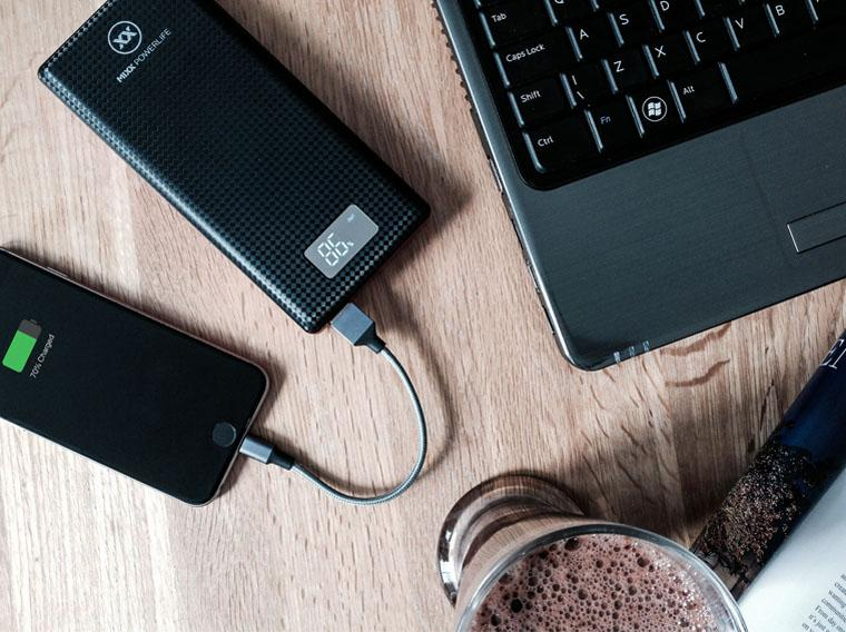 Charge your phone with Powerlife 3 power bank