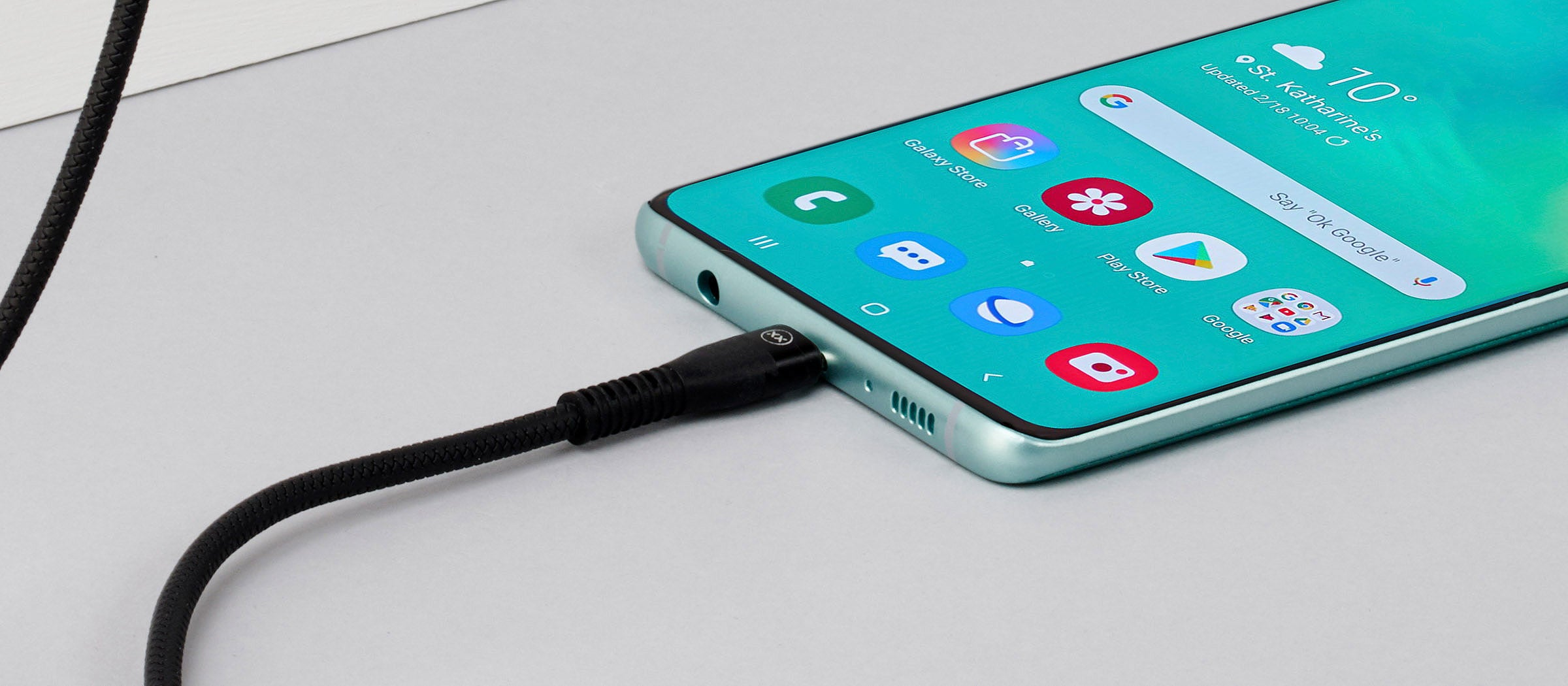 USB charging cable for Samsung S9 or S10