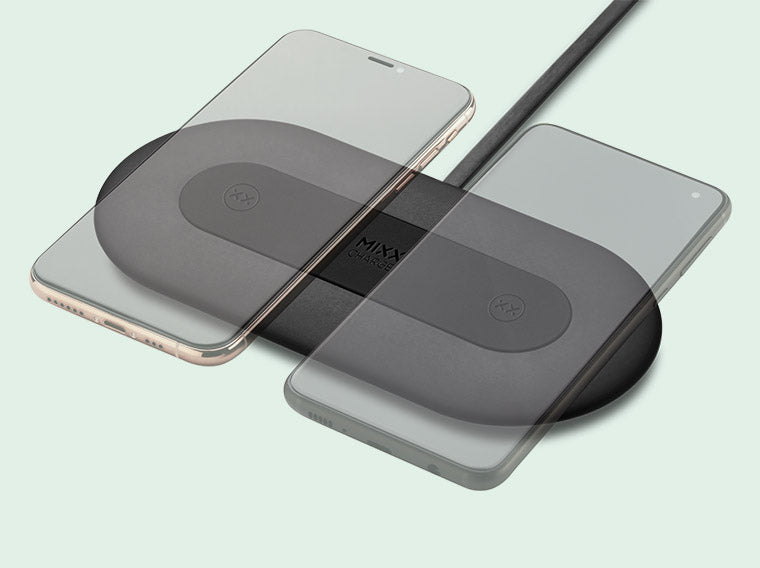 Charge 2 devices on the ChargeSpot Duo wireless charger