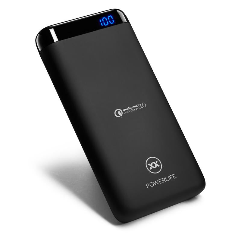 C15 power bank 15000mAh left lean view