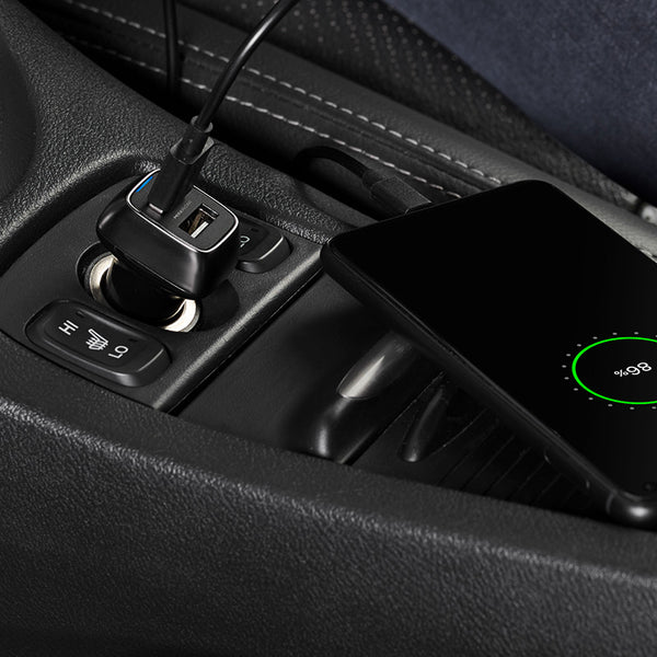 In-car charger for smartphones
