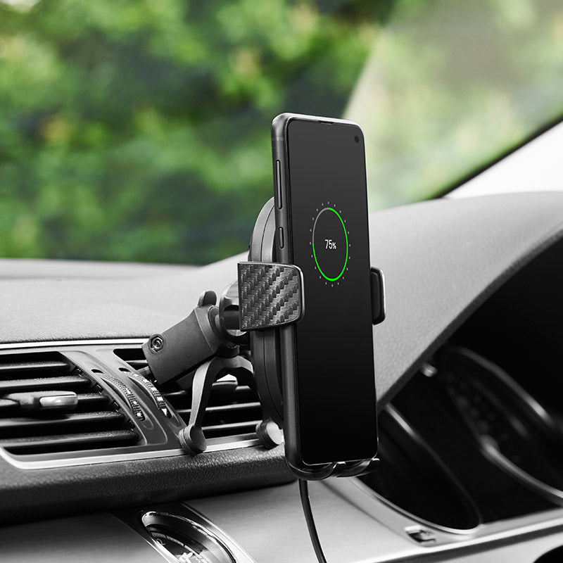 Wireless charging vent mount