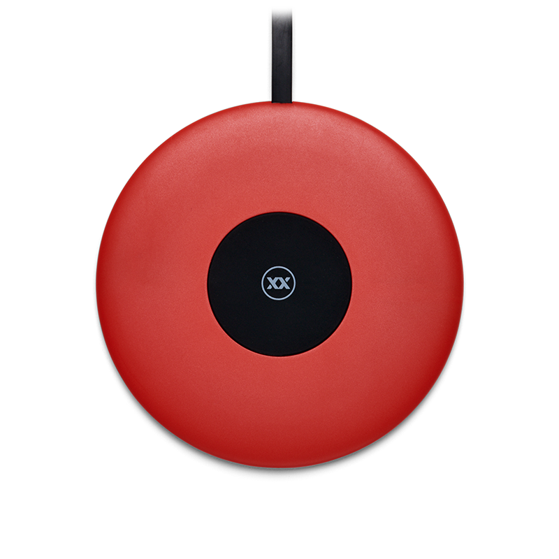 Wireless charger ChargeSpot red