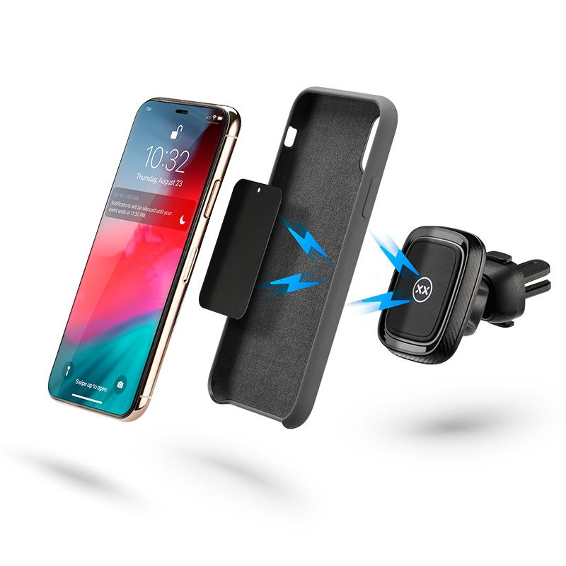 Magnetic car mount for iPhone with case