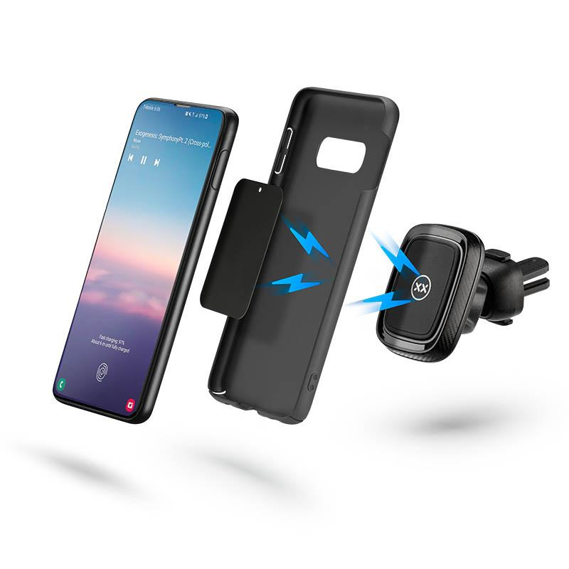 Magnetic car mount for Samsung phones with case