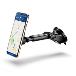 Magnetic long arm car mount for iPhone