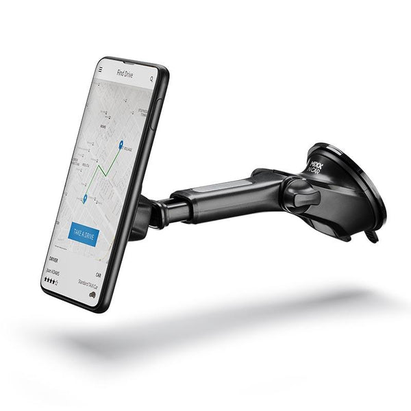 Magnetic long arm car mount for Samsung phones