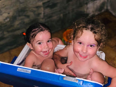 kids having a bath