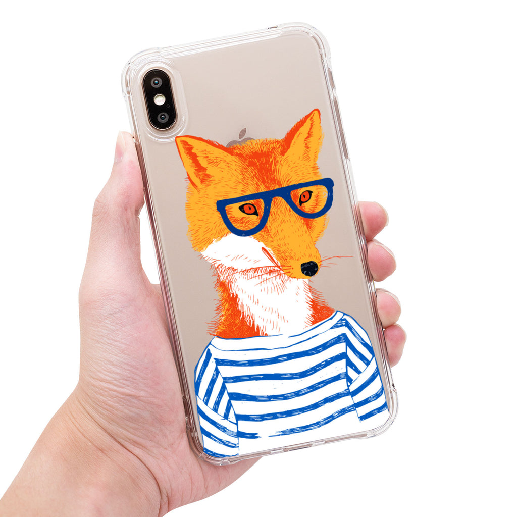 在矽谷工作的IT鹿的同事IT狐狸 A Fox Also Working in Silicon Valley-sgmarble-原創石紋手機殼-iphone-全包邊保護殼-可印名