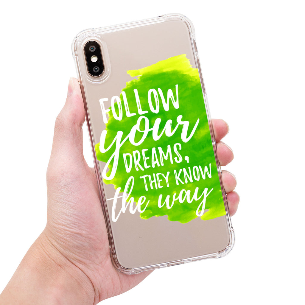 Follow your DREAMS, they know the way-sgmarble-原創石紋手機殼-iphone-全包邊保護殼-可印名