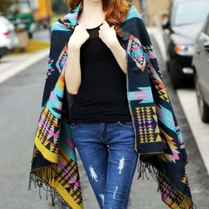 Stylish Hooded Wrap Ponchos