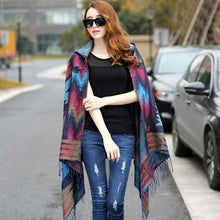 Load image into Gallery viewer, Stylish Hooded Wrap Ponchos