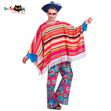 Load image into Gallery viewer, Wild West Cowboy Mexican Poncho