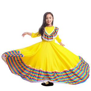 Traditional Mexican Folk Dancer Costume