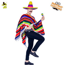 Load image into Gallery viewer, Colourful Mexican Poncho