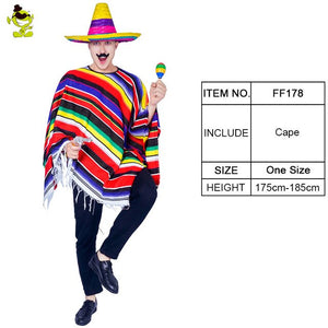 Colourful Mexican Poncho
