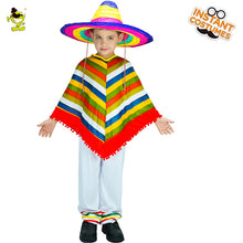 Load image into Gallery viewer, Kids Mexican Rainbow Poncho
