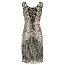 Load image into Gallery viewer, 1920s Vintage Embellished Sequin Gatsby Dress