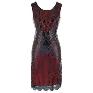 1920s Vintage Embellished Sequin Gatsby Dress