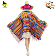 Load image into Gallery viewer, Colourful Mexican Cloak