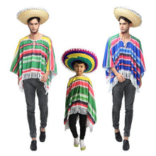 Load image into Gallery viewer, Traditional Mexican Party Costume Set for Adults and Kids
