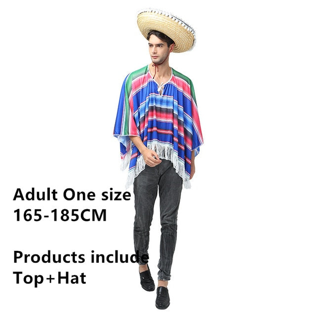 Traditional Mexican Party Costume Set for Adults and Kids