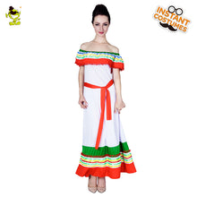 Load image into Gallery viewer, Rainbow Summer Dress Mexican Costume For Women